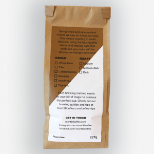 Mont58 coffee blends